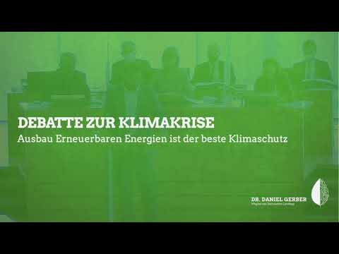 Rede im Landtag: Debatte zur Klimakrise