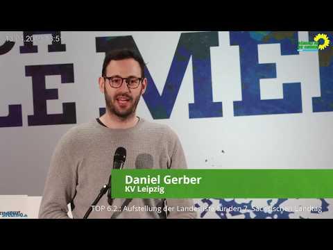 Bewerbung von Daniel Gerber auf Platz 10 der Landesliste von BÜNDNIS 90/DIE GRÜNEN Sachsen