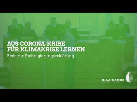 Rede im Landtag: Aus Corona-Krise für Klimakrise lernen