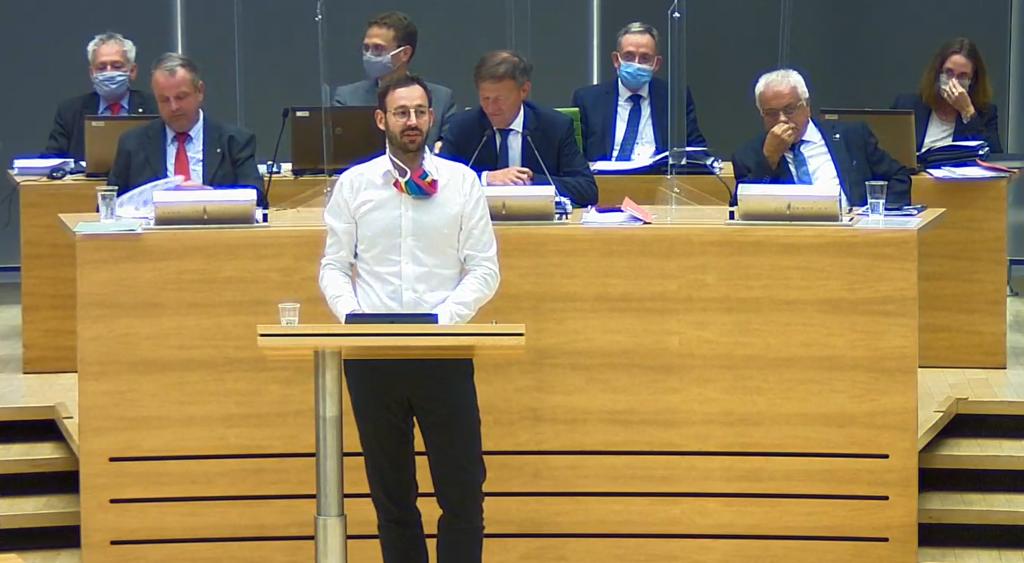 Dr. Daniel Gerber redet im Landtag zu AfD Antrag zur Abschaffung der Maskenpflicht
