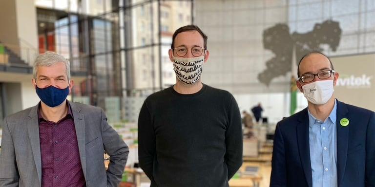 Im Landtag mit Volkmar Zschocke, MdL und Dr. David Greve, BUND Sachsen