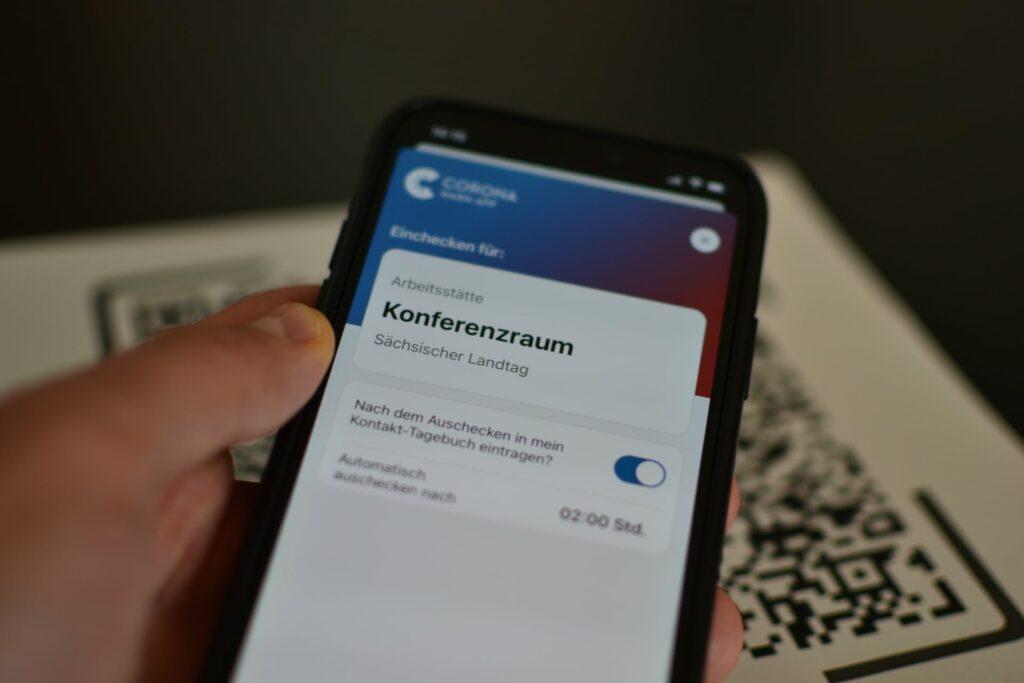 Check-in mit der Corona-Warn-App